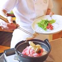 五感で愉しむ客前料理「雲海鍋」を堪能◆自家源泉×金泉の2種で寛ぐ(別館和室)