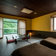 【半露天風呂付き客室】角部屋/和室ベッドルーム10畳