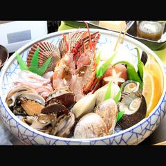 【大漁舟盛付!】伊勢海老、旬の魚介類が躍る!【海鮮残酷あみ焼♪】