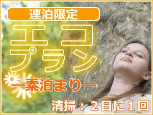 【素泊り】【安さには訳あり】エコプラン☆清掃&アメニティ交換が2日に一度☆