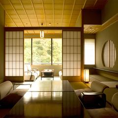 鶴仙渓の渓谷美を望む坪庭付客室(和室):◆お食事場所おまかせ