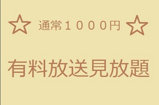 『有料TV放送見放題! 通常1,000円分』付プラン