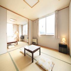 【3階角部屋◆2間続きの広々和室(8畳+14畳)/禁煙】