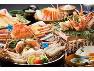 《藤花造り・茹で蟹に地元産活蟹使用!!》 『甲羅酒』を楽しめるワンランク上の贅沢な蟹会席♪