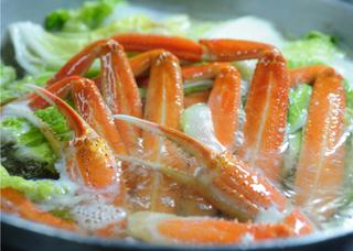 ◆【早割】平日なら30日前までのご予約がお得!【活松葉蟹1匹使用・蟹鍋コース】 夕朝食どちらも部屋食
