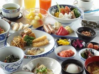 当館人気No,1【貸切風呂無料】 松島産焼きカキと仙台牛陶板焼き&ハーフバイキング