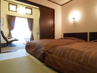 露天風呂付客室、和洋室のゆっくりのんびりタイプ