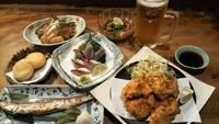 【1〜3名】居酒屋かみ風船 ちょい呑みプラン(ドリンク1杯サービス付き)