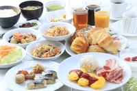 【朝食付プラン】絶対お得!和洋食お腹いっぱい食べ放題♪