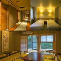 【竹林に和む和洋室】12.5畳囲炉裏の間+ツインベッドルーム