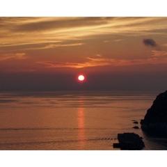 今子浦・輝く美しい夕陽【春おまかせコース】香住蟹×黒毛和牛<春GW/初夏>