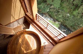 二人で入れる檜源泉かけ流し露天風呂付客室磐梯 個室食対応