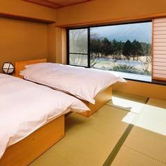 『扇』 寝室にベッドを完備 (居間8帖+寝室8帖・ 2階)
