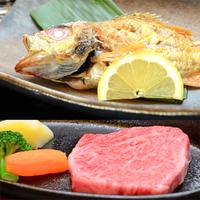 ■カップル・ご夫婦■【能登牛ステーキ】と【高級魚のどぐろ】のメインをお二人別々で♪(2食付)
