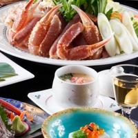 宝生亭秘伝の蟹味噌甲羅焼き付き「焼きガニ」が自慢のかにづくし<香箱ガニ入り茶碗蒸し付き>