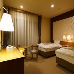 【専用温泉付洋室ツイン】Two beds/ バリアフリー対応
