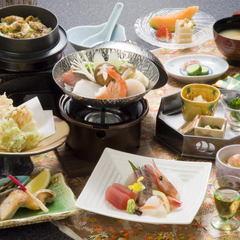富山湾の宝石「白エビ」をかき揚げで◆やっぱ白エビはおいしい!旬会席と♪