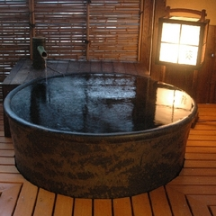 古き良き時を感じる露天風呂付き客室【葵】でほっこり