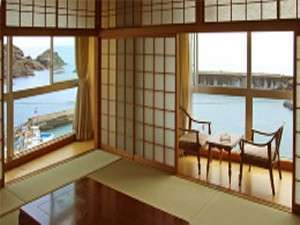 日本海丸見え和室・ポッカポッカ温泉