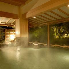 温泉でゆったりのんびり満喫♪本館の3つの大浴場で16趣お風呂巡りも≪無料≫でOk!1泊2食付