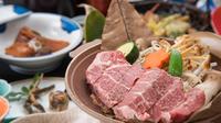 【信州の新調味料・まぁーず付】信州産のお肉を使用した特製ステーキと絶妙なコラボレーション【温泉】
