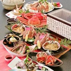 ◆かに満喫◆タグ付ブランド松葉蟹1匹+ずわい蟹1匹使用!赤い宝石を食べ比べ♪天然温泉