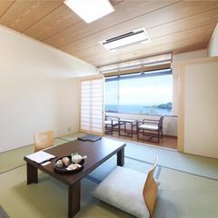 海側確約・日本海と朝日一望できる 和室