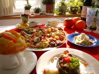 焼きズワイ蟹と人気のピザコース