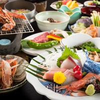 【現金特価】《リーズナブル会席series 第1弾》焼き蟹×牛シチュー×お造り。人気の味を楽しむ♪