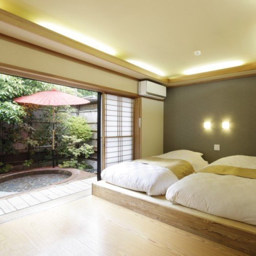 Deluxe Semi Western-Style Room with Private Open-Air Bath