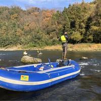 【体験】野生のモンスタートラウトを釣ろう!リバーボートフィッシング・専属ガイド付1泊2食