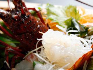 【個室食】船盛&伊勢海老お造り&タコ・貝・シラス豪華海鮮コース
