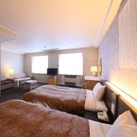 【洋室 ツイン40平米 】ゆったりベッドの広々ツイン◆禁煙◆