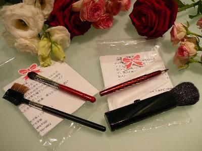 〜広島県特産品熊野化粧筆付きプラン〜(1室1セットのお渡しです)