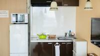 【コンドミニアムルーム】キッチン付のお部屋で暮らすように滞在。各種器具備え付けで手ぶらOK