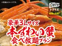 【夕食グレードアップ】本ずわい蟹食べ放題+1泊2食付バイキングプラン