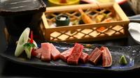 【信州ブランド肉3種食べ比べ会席】 硫黄香る温泉を心ゆくまで