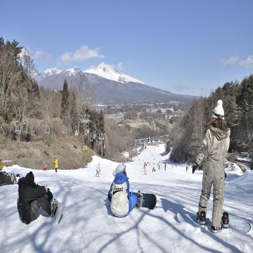 【お先でスノ。】【素泊まり】【ポイント2倍!】スキーのあとは天然温泉満喫☆東信州×軽井沢の旅!