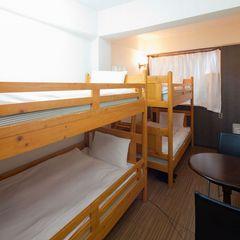 【4人部屋(2段ベッド×2)】3名も可/13平米