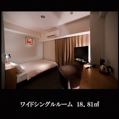 ワイドルーム(禁煙)18.81平米☆ダブルベッド幅140cm