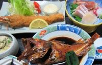 貸切入浴可☆スタンダード【海鮮づくし☆満腹プラン】お刺身・魚の煮つけ等【ふくしまプライド。】応援