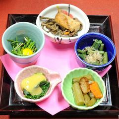 【山菜食べ尽くし】5種類の山菜入り!「山菜かご盛り」付●5〜6月は特別料理・山菜しゃぶしゃぶも♪