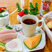 古都散策の前にしっかり自家製、朝ごはんを