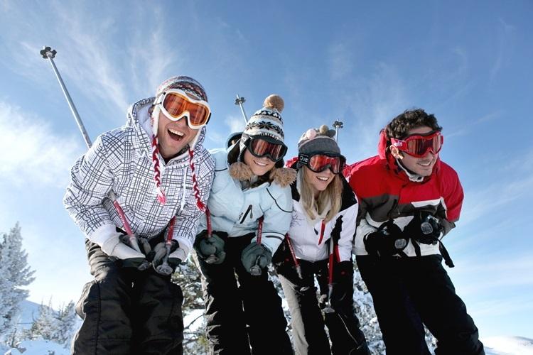 4人スキー