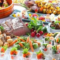 【スタンダード】水辺のレストランでアツアツのお料理を グランドブッフェ2食付