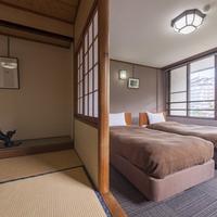◆和洋室(ツイン+6畳)◆個別空調完備◆バス・トイレ付◆