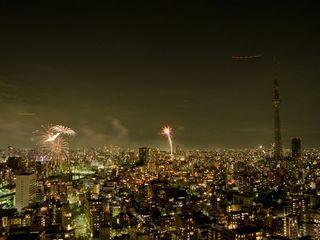 【花火の見えない部屋】隅田川の花火を見に行こう♪(朝食付)