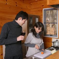 【8大特典付】バレンタイン&ホワイトデープラン!夕食はキッチン付コテージでお部屋食