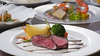 【夕食はホテルで人気NO.1洋食】山・海の幸を両方たのしむ信州産和牛&日本海の恵みフレンチ