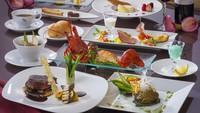 【夕食はホテル最上級の洋食フレンチコースを堪能】豪華三大食材◆信州プレミアム牛×伊勢海老×鮑